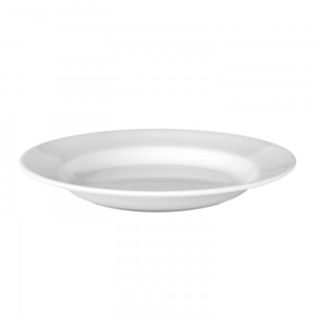 Thunder Group 1110TW Imperial White Melamine Soup Plate 12 oz.