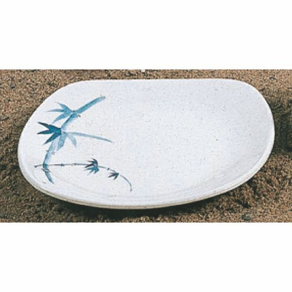 "Thunder Group 1203BB Blue Bamboo Oblong Platter 6"" x 5-1/2"""