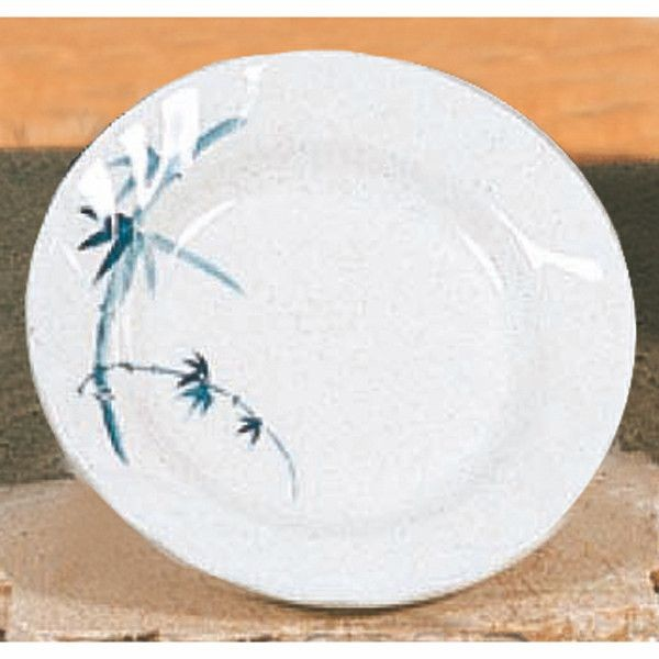 Thunder Group 1207BB Blue Bamboo Melamine Curved Rim Plate 7""