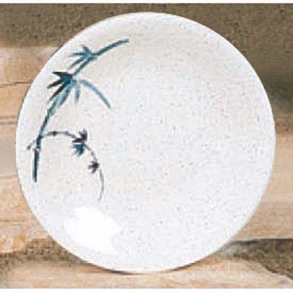 Thunder Group 1308BB Blue Bamboo Melamine Round Dinner Plate 8-5/8""