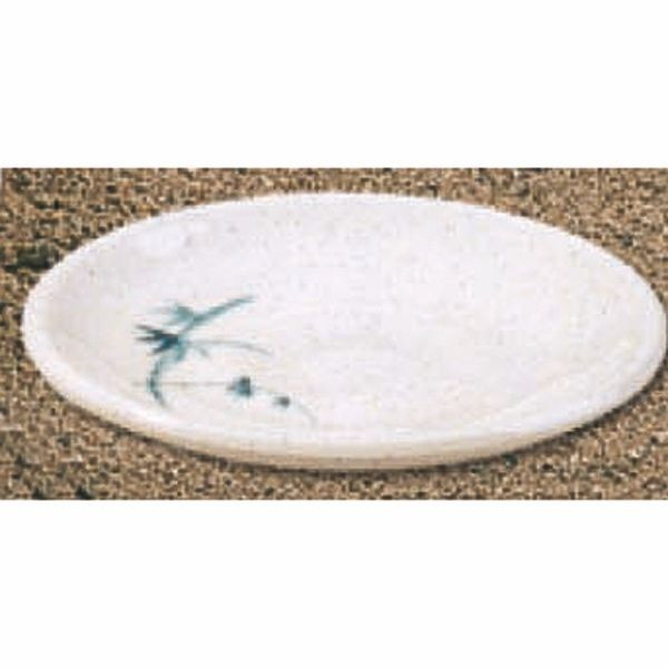 Thunder Group 1338BB Blue Bamboo Saucer 3-3/4""
