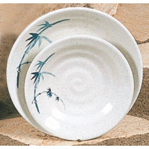 Thunder Group 1350BB Blue Bamboo Soup Plate 5-1/8""