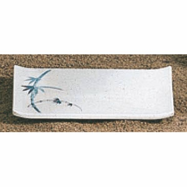 "Thunder Group 1503BB Blue Bamboo Rectangular Plate 6-3/4"" x 4-1/2"""