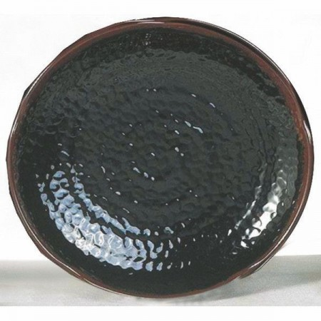 Thunder Group 1814TM Tenmoku Lotus Shaped Melamine Plate 14""