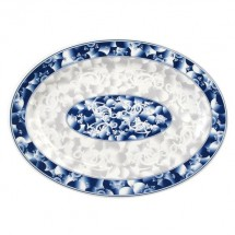 Thunder Group 2010DL Blue Dragon Melamine Oval Platter 9-7/8