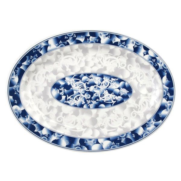 Thunder Group 2014DL Blue Dragon Deep Oval Platter 14""