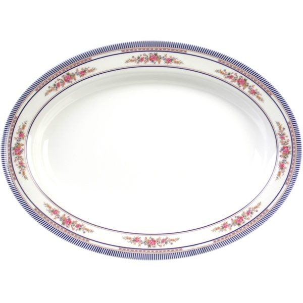 Thunder Group 2114AR Rose Deep Oval Platter 14-1/8