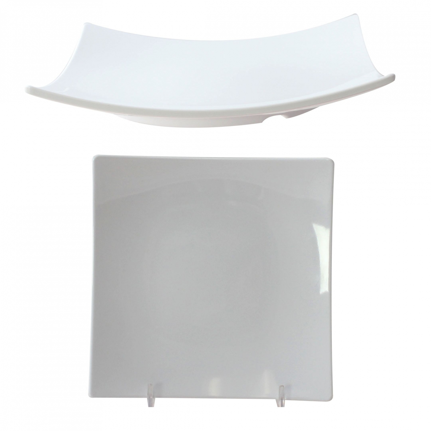 "Thunder Group 24006WT Square Classic White Series Plate 6"" - 1 doz"