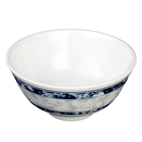 Thunder Group 3004DL Blue Dragon Melamine Rice Bowl 12 oz