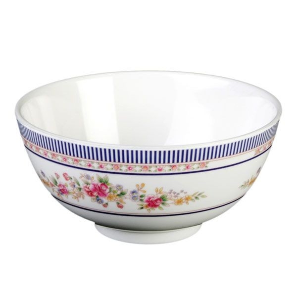 Thunder Group 3006AR Rose Melamine Rice Bowl 9 oz