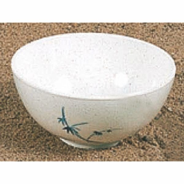 Thunder Group 3006BB Blue Bamboo Melamine Soup Bowl 9 oz.