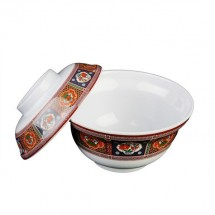 Thunder Group 3201TP Peacock Melamine Noodle Bowl 20 oz