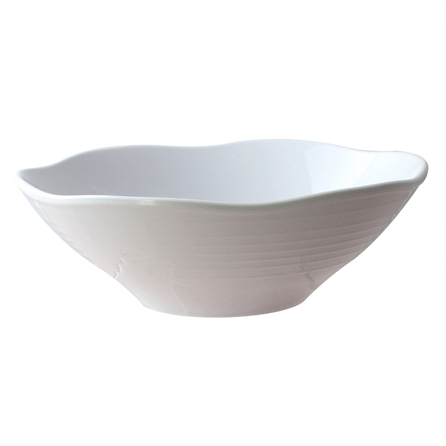 Thunder Group 39093WT Classic White Melamine Soup Bowl 45 oz. - 1 doz.