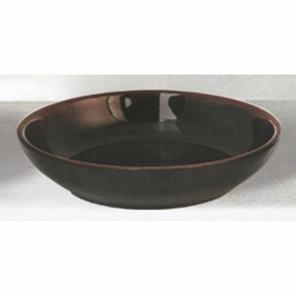Thunder Group 3955TM Tenmoku Flat Bowl 5-1/2""