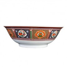 Thunder Group 5075TP Peacock Melamine Rimless Bowl 52 oz. - 1 doz.