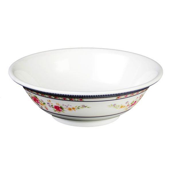 Thunder Group 5085AR Rose Melamine Rimless Bowl 70 oz. - 1 doz