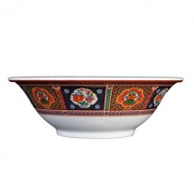 Thunder Group 5107TP Peacock Melamine Bowl 24 oz. - 1 doz.