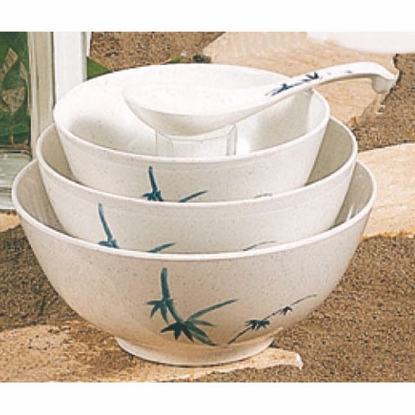 Thunder Group 5208BB Blue Bamboo Melamine Rice Bowl 56 oz.