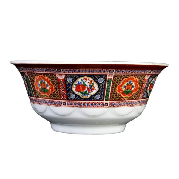 Thunder Group 5275TP Peacock Scalloped Bowl 34 oz. - 1 doz