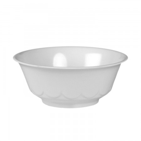 Thunder Group 5275TW Imperial White Melamine Scalloped Bowl 34 oz.