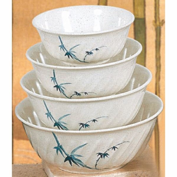 Thunder Group 5306BB Blue Bamboo Melamine Soba Bowl 21 oz.