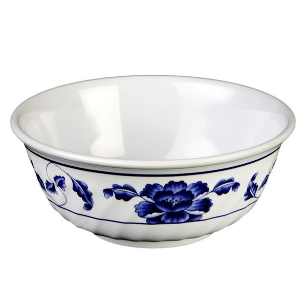 Thunder Group 5307TB Lotus Melamine Swirl Bowl 32 oz.