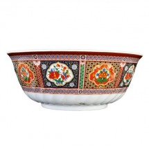 Thunder Group 5307TP Peacock Melamine Swirl Bowl 32 oz. - 1 doz.