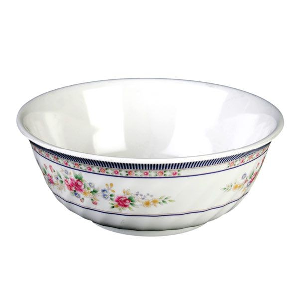 Thunder Group 5309AR Rose Melamine Swirl Bowl 72 oz