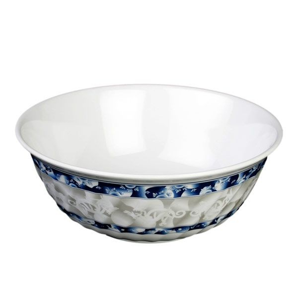 Thunder Group 5309DL Blue Dragon Melamine Swirl Bowl 72 oz. - 1 doz