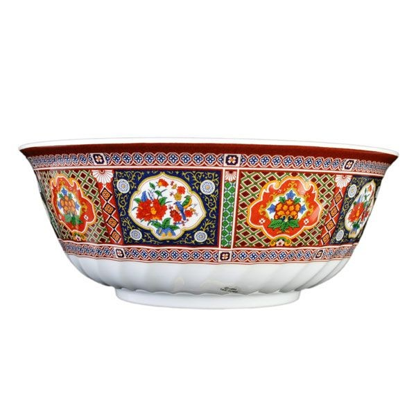 Thunder Group 5309TP Peacock Swirl Bowl 72 oz. - 1 doz