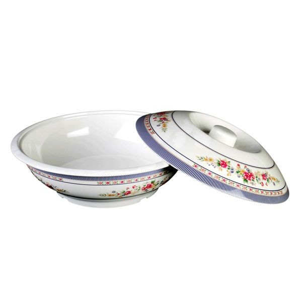 Thunder Group 8010AR Rose Serving Bowl With Lid 75 oz