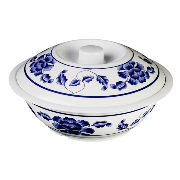 Thunder Group 8010TB Lotus Serving Bowl With Lid 75 oz.