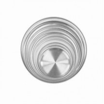 "Thunder Group ALPTCS008 Coupe Style Aluminum Pizza Tray 8"" - 1 doz"