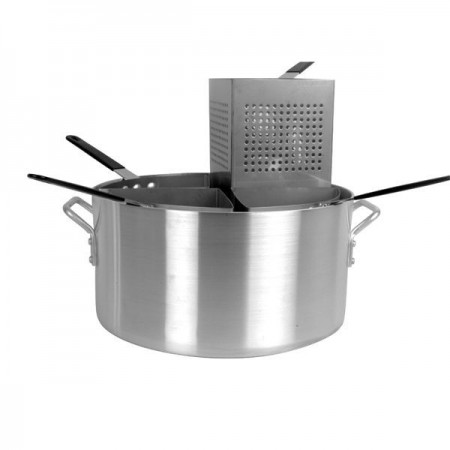 Thunder Group ALSKPC005 5 Piece Aluminum Pasta Cooker 20 Qt.