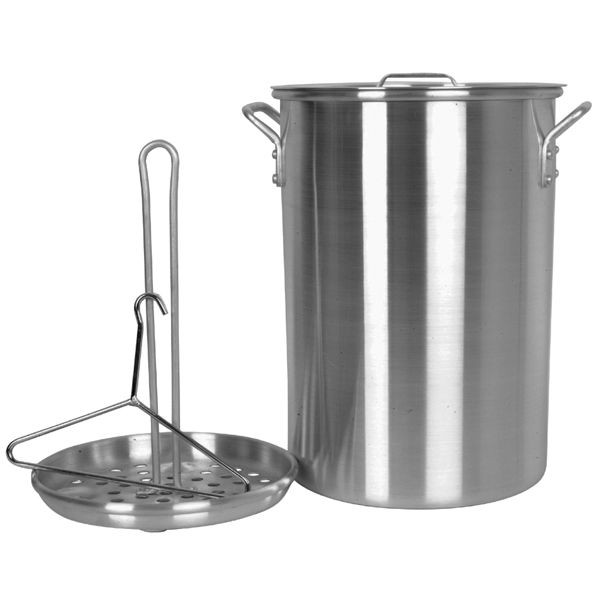 Thunder Group ALSKTP012 Aluminum Deep Fry Turkey Pot 26 Qt.