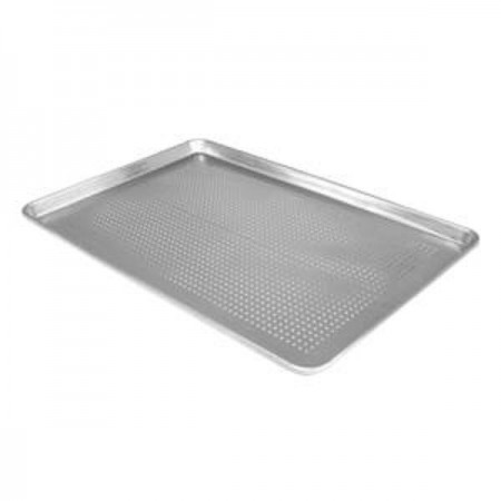 "Thunder Group ALSP1813PF Half Size Perforated Aluminum Sheet Pan 18"" x 13"""
