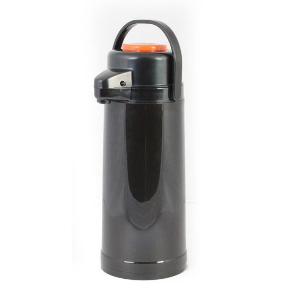 Thunder Group APPG025D Glass Lined Airpot With Push Button2.5 L - 1/2 doz