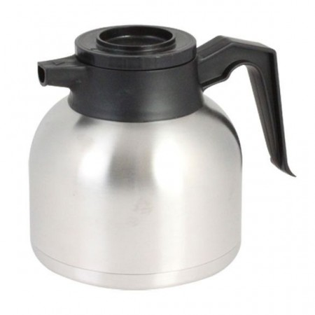 Thunder Group ASCS019BT Stainless Steel Push Button Coffee Server with Brew-Thru Lid 1.9 L