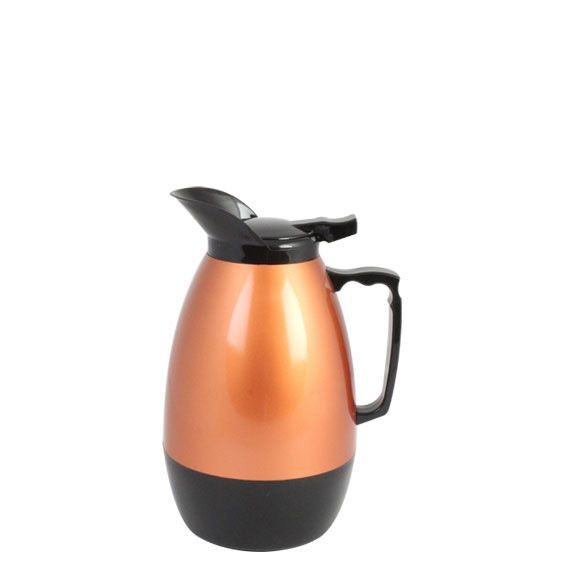 Thunder Group ASCS032G Black and Gold Coffee Server 32 oz. - 2 doz