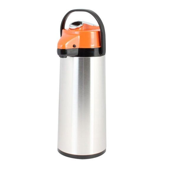 Thunder Group ASLS025D Stainless Steel Lined Airpot, Decaf 2.5 lt / 84 oz. - 1/2 doz