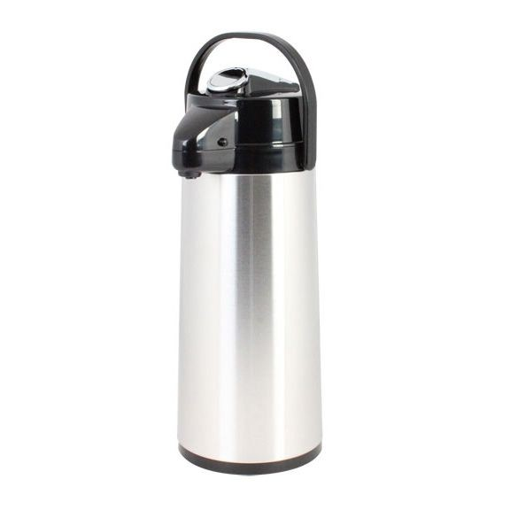 Thunder Group ASLS030 Stainless Steel Lined Airpot 3.0 lt / 101 oz. - 1/2 doz