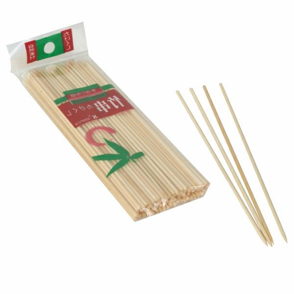 "Thunder Group BAST010 Bamboo Skewers 10"" - 30 bags of 100"