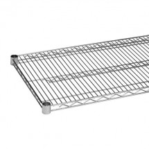 "Thunder Group CMSV1424 Chrome Wire Shelving 14"" x 24"" - 2 pcs"