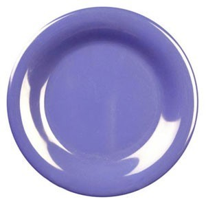 Thunder Group CR005BU Purple Wide Rim Melamine Plate 5-1/2& - 1 doz