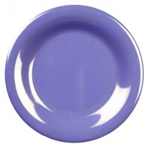 "Thunder Group CR006BU Purple Melamine Wide Rim Round Plate 6-1/2""  - 1 doz"