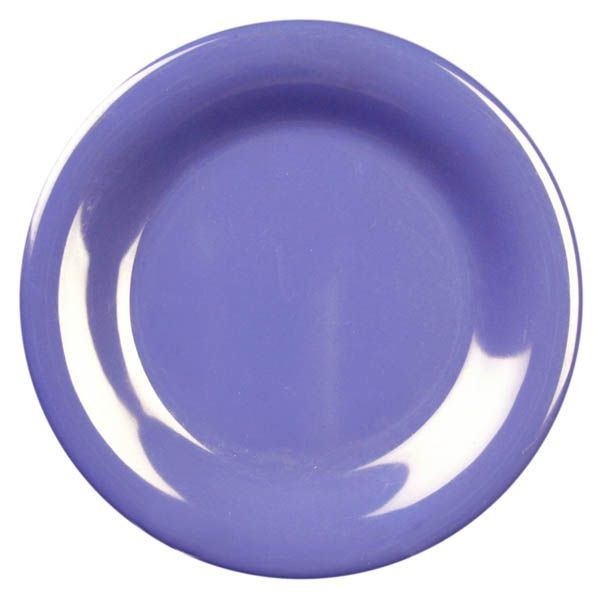 "Thunder Group CR006BU Purple Round Wide Rim Plate 6-1/2"" - 1 doz"