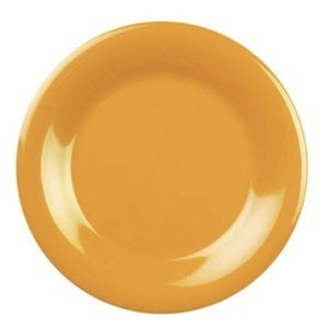 "Thunder Group CR006YW Yellow Wide Rim Melamine Plate 6-1/2"" - 1 doz."