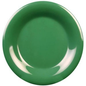 "Thunder Group CR007GR Green Round Wide Rim Plate 7-7/8"" - 1 doz"