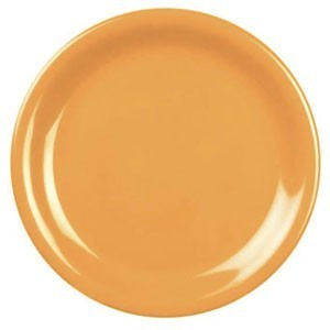 "Thunder Group CR106YW Yellow Round Narrow Rim Plate 6-1/2"" - 1 doz"