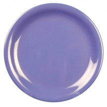 "Thunder Group CR107BU Purple Melamine  Narrow Rim Round Plate 7-1/4"" - 1 doz"